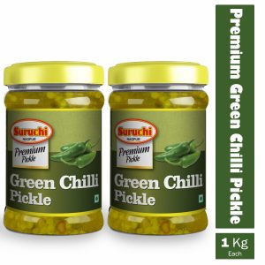 Premium Green Chilly Pickle (pack Of 2)-2kg