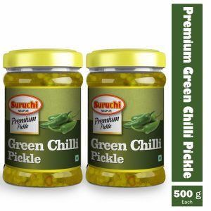 Premium Green Chilly Pickle (Pack Of 2)-1kg